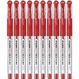 Uni-ball Signo Gel Ink Pen, 0.38 mm tip, Red, Pack of 10 (BC25557)
