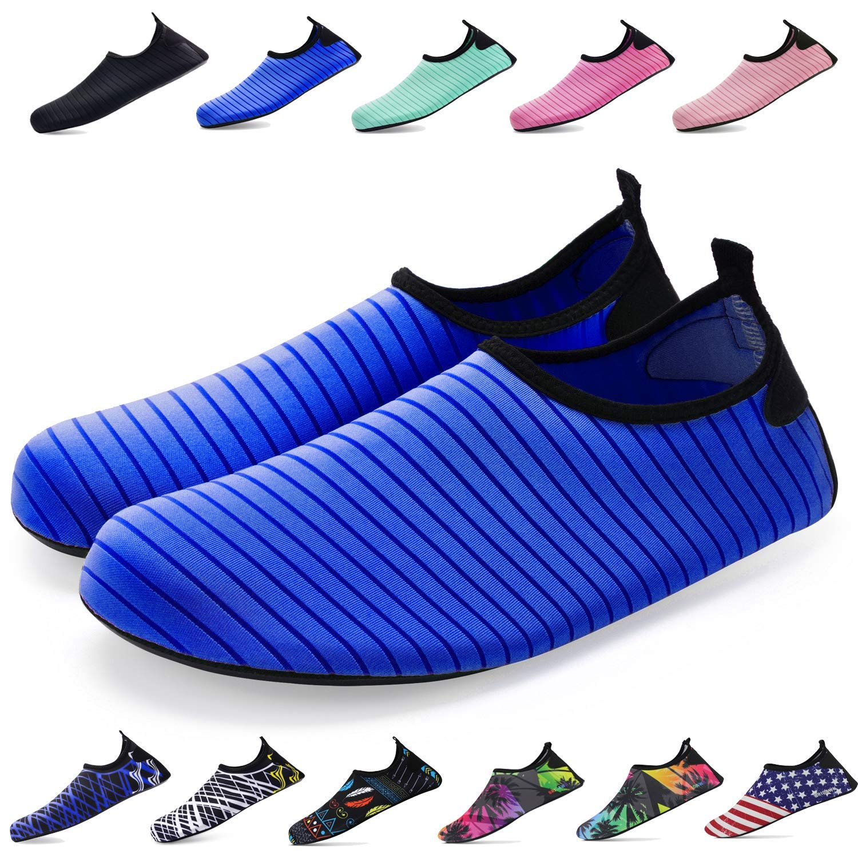 全品送料0円 (M (US Women:7.5-8.5/Men:6.5-7.5), Barefoot Rainbow) - Bridawn ブルー - Water Shoes for Women and Men, Quick-Dry Socks Barefoot Shoes B07DJ63TFV ブルー XXXL (US Women:12.5-13.5/Men:11.5-12.5) XXXL (US Women:12.5-13.5/Men:11.5-12.5)|ブルー, ROCKETS:5be14f5d --- arianechie.dominiotemporario.com