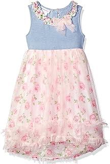 b4a8f0de5b99 Bonnie Jean Girls  Sleeveless Printed Chiffon Hi Low Dress