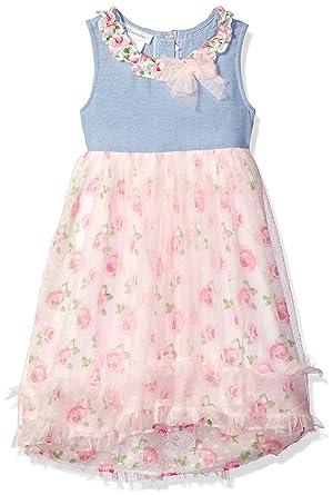 998fcfb20d Amazon.com  Bonnie Jean Girls  Sleeveless Printed Chiffon Hi Low ...