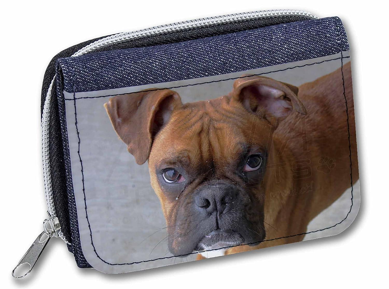 AD-B22JW Red Boxer Dog Girls//Ladies Denim Purse Wallet Christmas Gift Idea