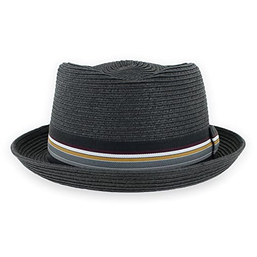d750fca2f9f Belfry Men Women Summer Sraw Pork Pie Trilby Fedora Hat in Blue Tan ...