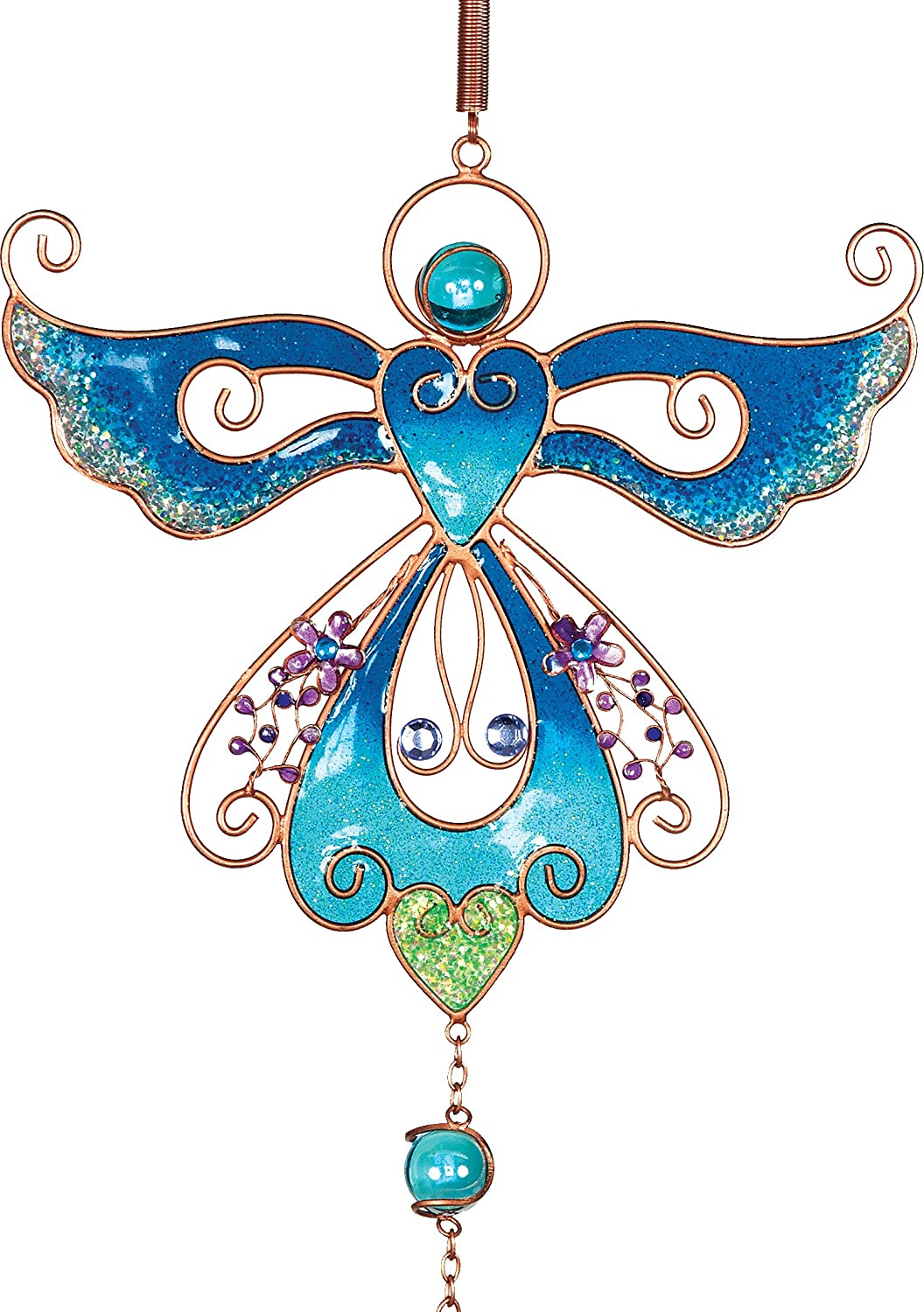 AngelStar Blue Angel Wind Chime, Metal, Multi-Colour 72629