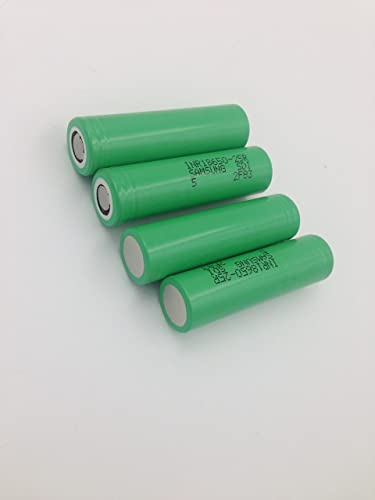 4 Samsung INR18650-25R 18650 2500mAh 3.7v Rechargeable Flat Top Batteries