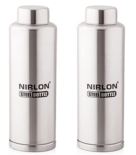 d3db48e64a8 Image Unavailable. Image not available for. Colour  Nirlon Stainless Steel  Bottle Set ...