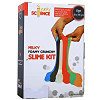 Yucky Science Kids Milky Foamy Crunchy Slime Making DIY Kit (Multicolour)