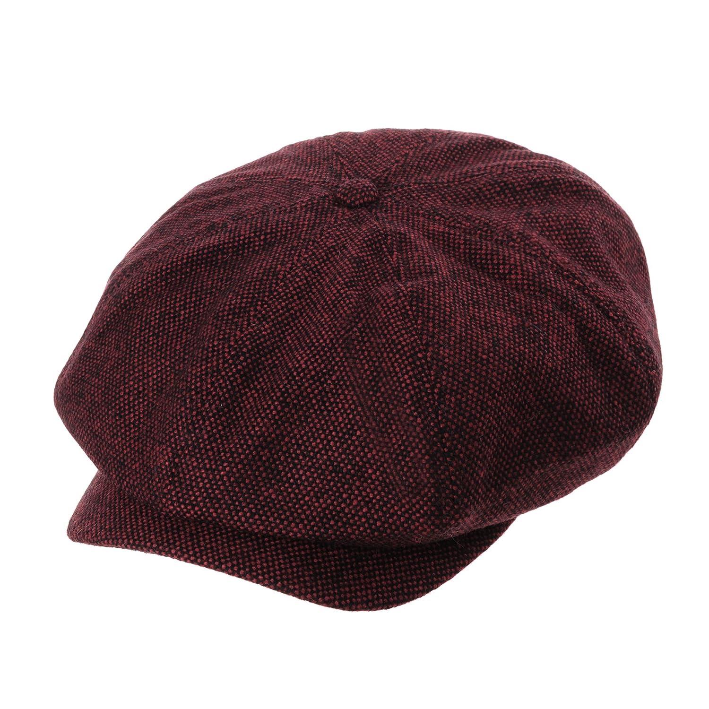 WITHMOONS Newsboy Hat Wool Felt Simple Gatsby Ivy Cap SL3525 SL3525Black