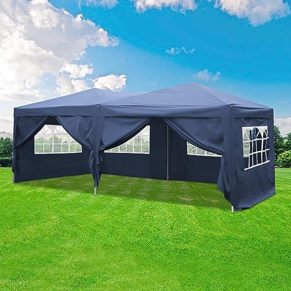 Homdox Tienda Pabellón Carpa 3M*6M con Paredes Laterales y Ventanas Plegables para Fiestas, Eventos, Boda, en Jardín o al Aire Libre, Morado: Amazon.es: ...