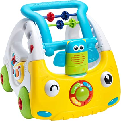 Nuby Interactive Baby Walker With Lights And Sounds 3 Stage Push Along Walker 6 Months Plus Perfect For All Stages Of Play From Sitting To