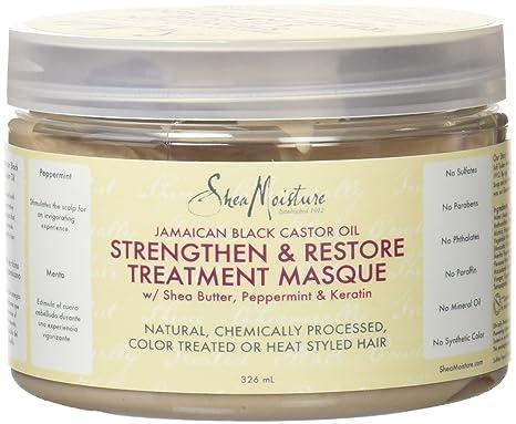 Shea Humedad jamaicana Negro Aceite de ricino Fortalecer/Grow y restauración Tratamiento máscara 326 ml