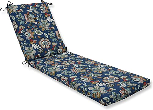 Pillow Perfect Outdoor/Indoor Telfair Peacock Chaise Lounge Cushion
