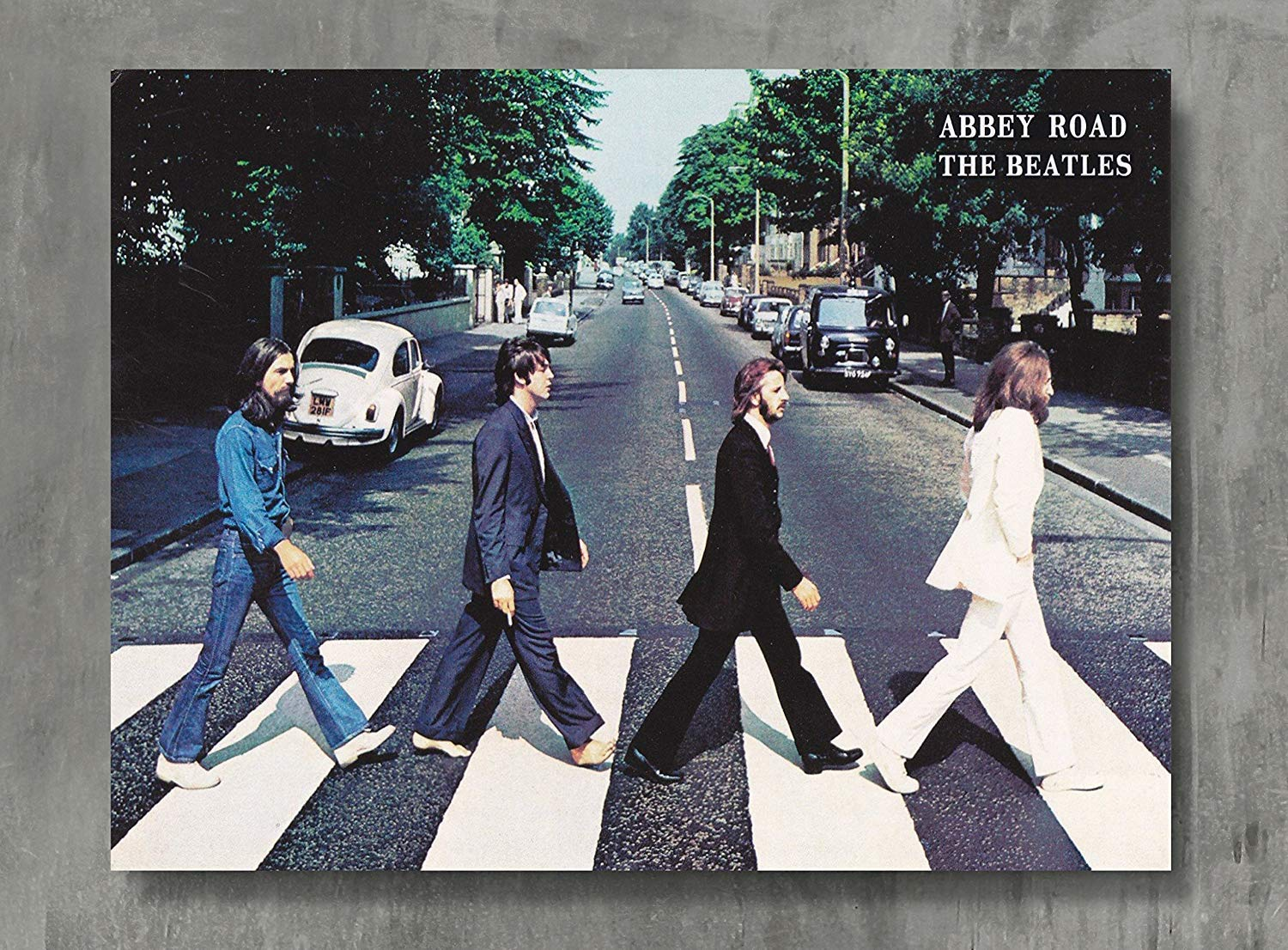 Amazon com applepie the beatles abbey road poster 24 x 18 inch the beatles abbey road posters print wall posters posters prints