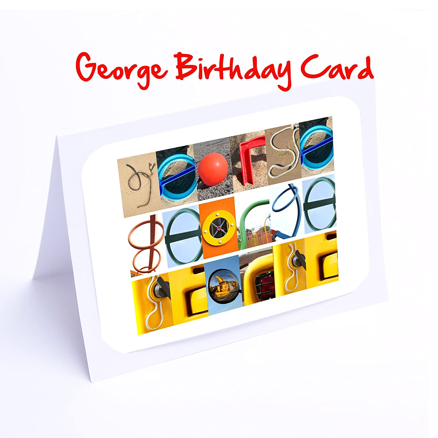 Personalised Name Gifts For Kids George 7x5 photo print.