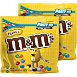 M&M'S Peanut Chocolate Candy Party Size Bag 42 Ounce (Pack of 2)