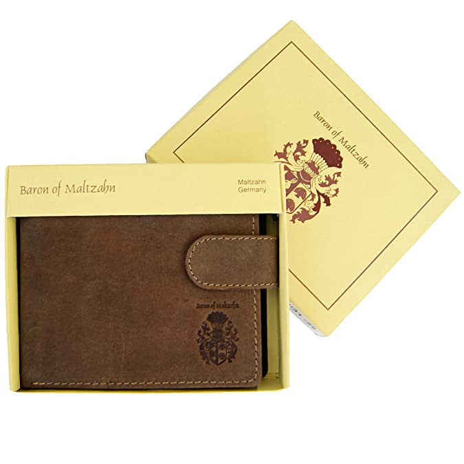 Amazon.com: BARON of MALTZAHN Mens wallet purse with chain VANDERBILT of brown leather: Shoes