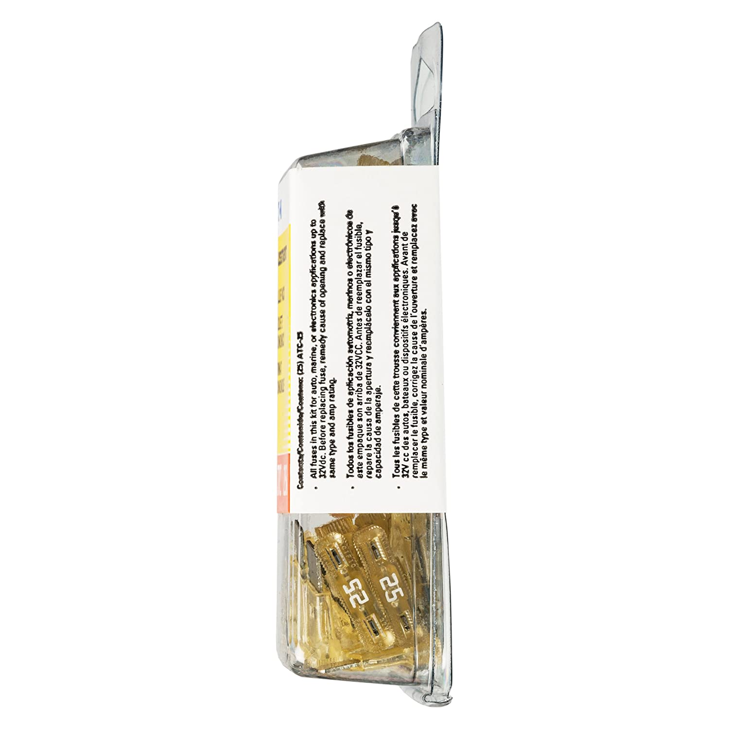 Bussmann Clear 25 Amp 32V Fast Acting ATC Blade Fuse, VP//ATC-25-RP Pack of 25