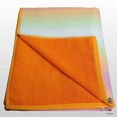 Grande 100% algodón de doble cara Fouta Pareo toalla de playa, diseño de hoja