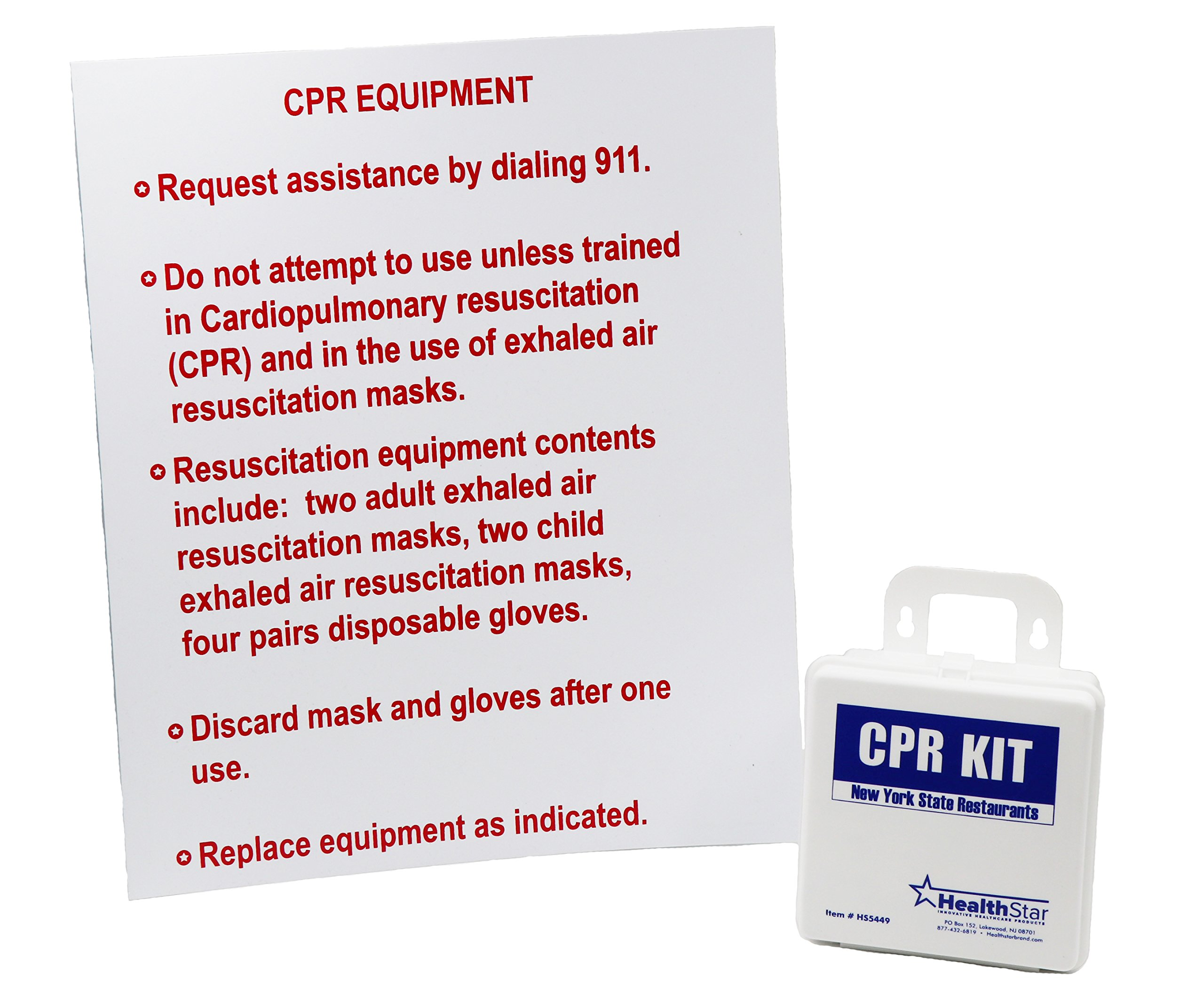 CPR Kit New York State Restaurants With Sign by HealthStar