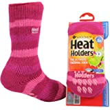 Heat Holders Kids Warm Winter Thermal Gripper Anti-Slip Socks 3-8 years