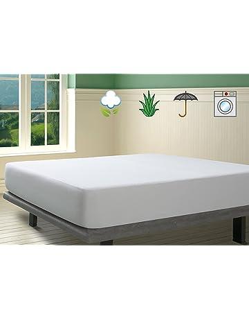 SAVEL, Protector de colchón Rizo 100% algodón con Tratamiento Aloe Vera, Impermeable