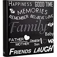 Family, Friends Travel/Holiday Destinations/Memory Photo/Picture Album with Memo Writing Area and Decorative Text Design Fit 200 4 x 6-inch / 10x15cm Photos by Arpan