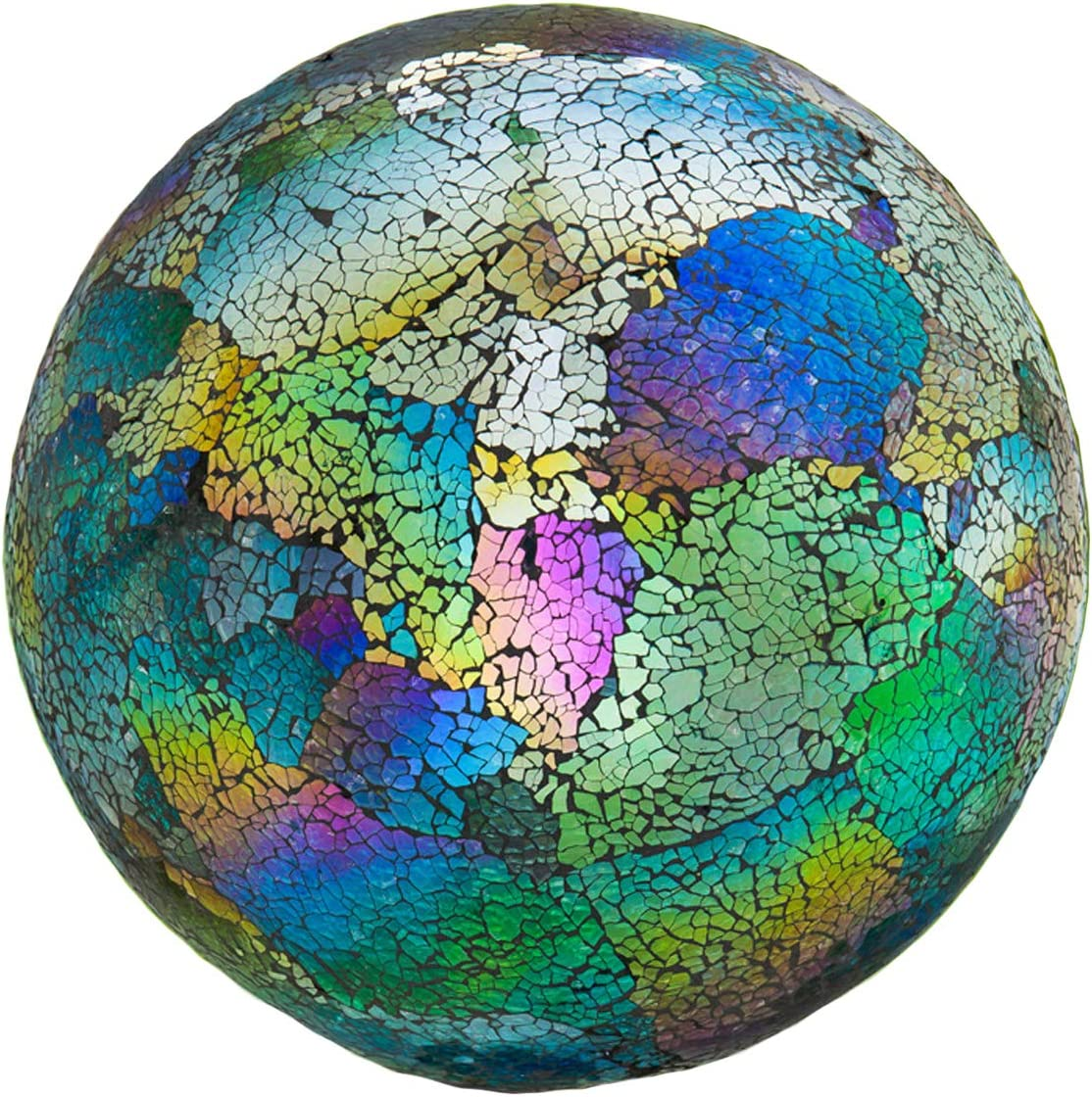 10 Inch Mosaic Colorful Gazing Ball For Yard Garden Outdoor