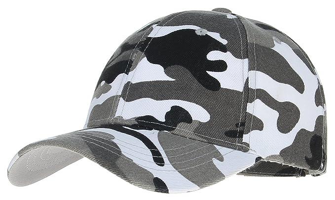 8e8d29aca25b8 GEMVIE Chapeau Baseball Casquette Casual Hat Été Homme Soleil Camouflage  Blanc