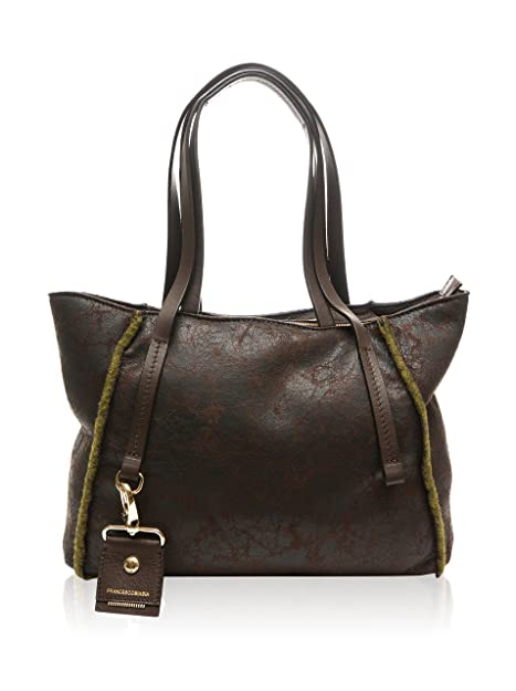 9afa52db28 Francesco Biasia, Borsa a spalla donna marrone marrone: Amazon.it: Scarpe e  borse