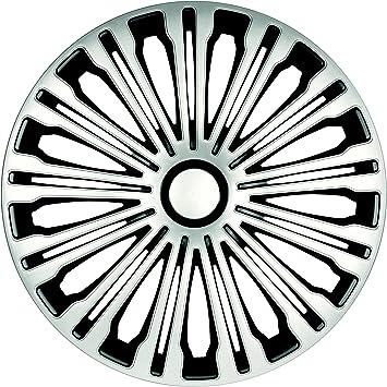 Zentimex Radzierblenden Radkappen Radabdeckung 17 Zoll 906 Silber Schwarz Auto