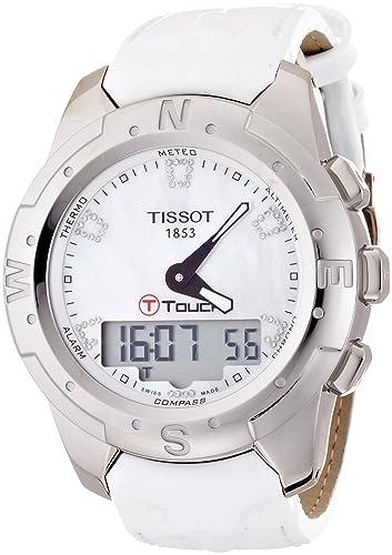 Tissot Reloj Analógico-Digital para Mujer de Cuarzo con Correa en Cuero T047.220.46.116.00: Tissot: Amazon.es: Relojes