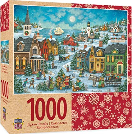 MasterPieces Holiday Harbor Side Carolers - Singing Carolers 1000 Piece Jigsaw Puzzle by Bonnie White