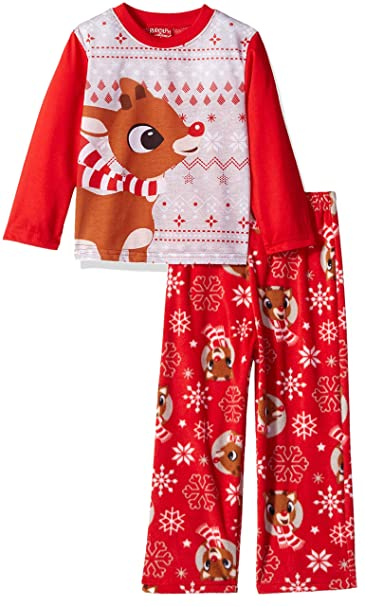 19267fa5f Rudolph the Red Nosed Reindeer Christmas Holiday Family Sleepwear Pajamas  (4, Kid Rudolph)