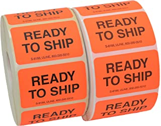 """product image for Uline Ready to Ship Labels 1 1⁄4 x 2"""" Pack of 2 (1000 Stickers/Roll)"""