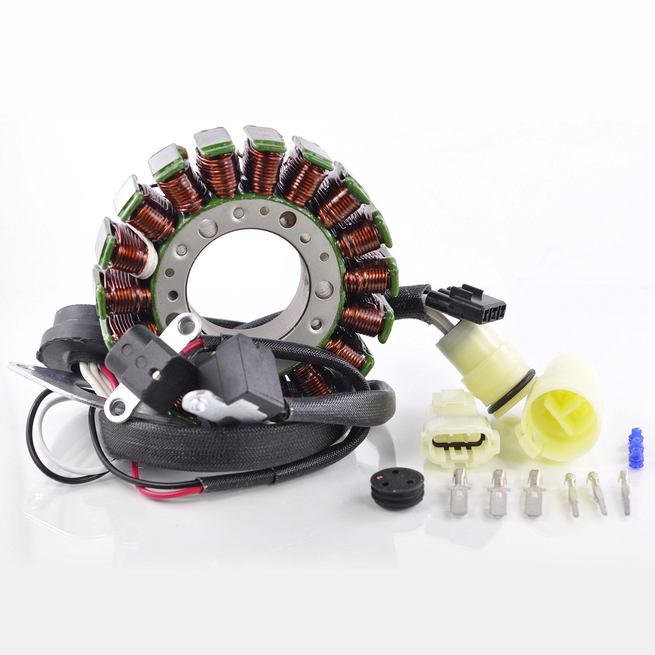 Generator Stator For Yamaha Waverunner FX Cruiser VX Deluxe Sport 1000 1100 AR SR SX 230 GP 1300 R 212 SS X 232 Limited 2002-2015 OEM Repl.# 60E-81410-00-00 60E-81410-01-00 6D3-81410-00-00 by RMSTATOR