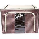 UberLyfe Brown 88L Foldable Cloth Storage Box with Steel Frames - 1pc (UW-546-BRCS88L)