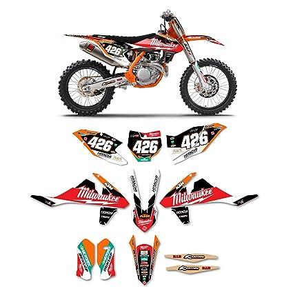 Amazon com: 2016-2018 KTM SX-SXF 125-450 MILWAUKEE Motocross