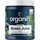 Organifi Green Juice - Organic Superfood Powder - 30-Day Supply - Organic Vegan Greens - Helps Decrease Cortisol - Provides B