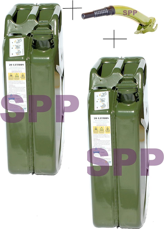 Verde 20 litros Coamer BM20L Bid/ón met/álico para gasolina