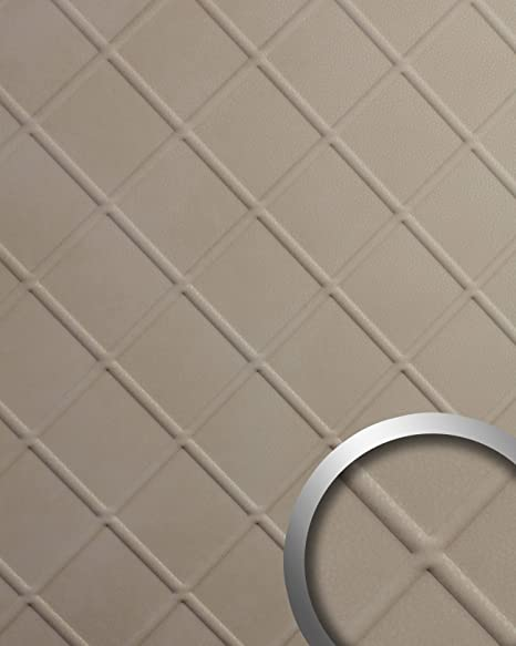 Panel decorativo aspecto de cuero WallFace 19545 CORD Stony Ground gofrado Revestimiento mural de aspecto cuero napa mate autoadhesivo beige 2,6 m2: ...