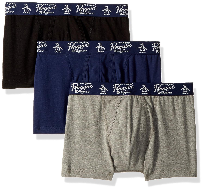 Original Penguin Men's 3 Pack Basic Knit Cotton Trunk RPM8301