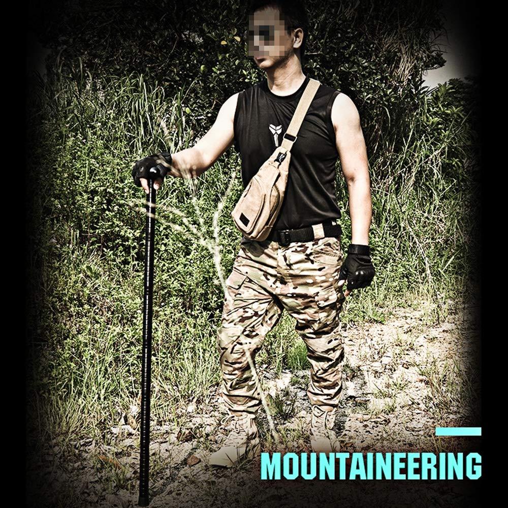 SHNAN 1 Juego de Bastones de Excursionismo bast/ón de autodefensa multifunci/ón para Escalar para Acampar al Aire Libre a trav/és de la Jungla 111CM