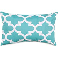 Majestic Home Goods Trellis Pillow, Small, Teal