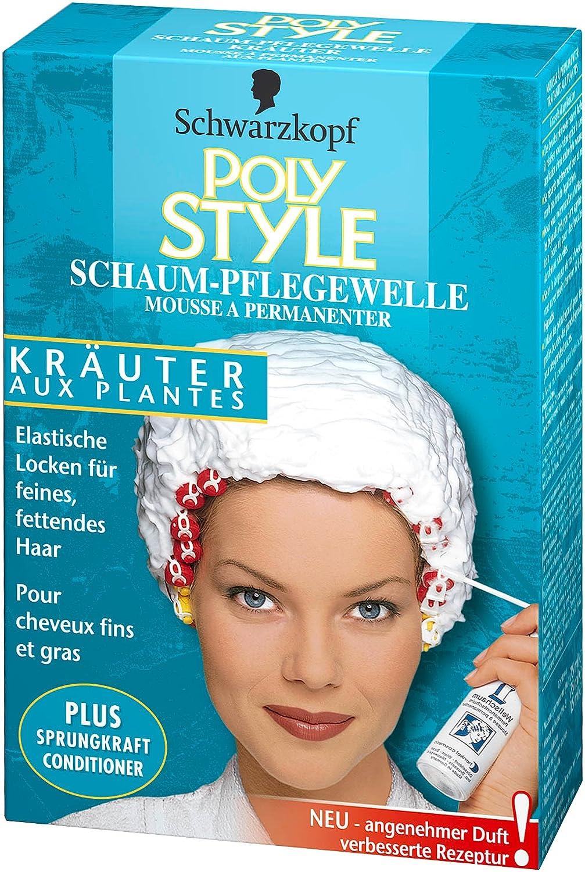 Schwarzkopf Poly Style Kräuter, Schaum-Pflegewelle, 5er Pack (5 x 170 ml) Schwarzkopf Poly Color SSK1