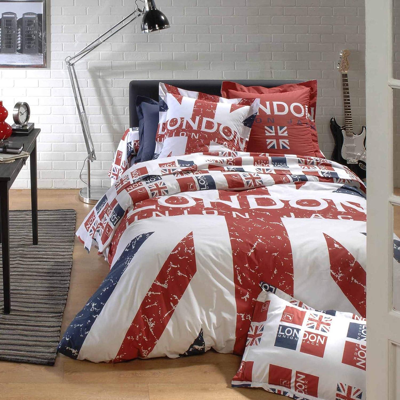 London Union Jack Lenzuolo 180x290 cm 100/% Cotone