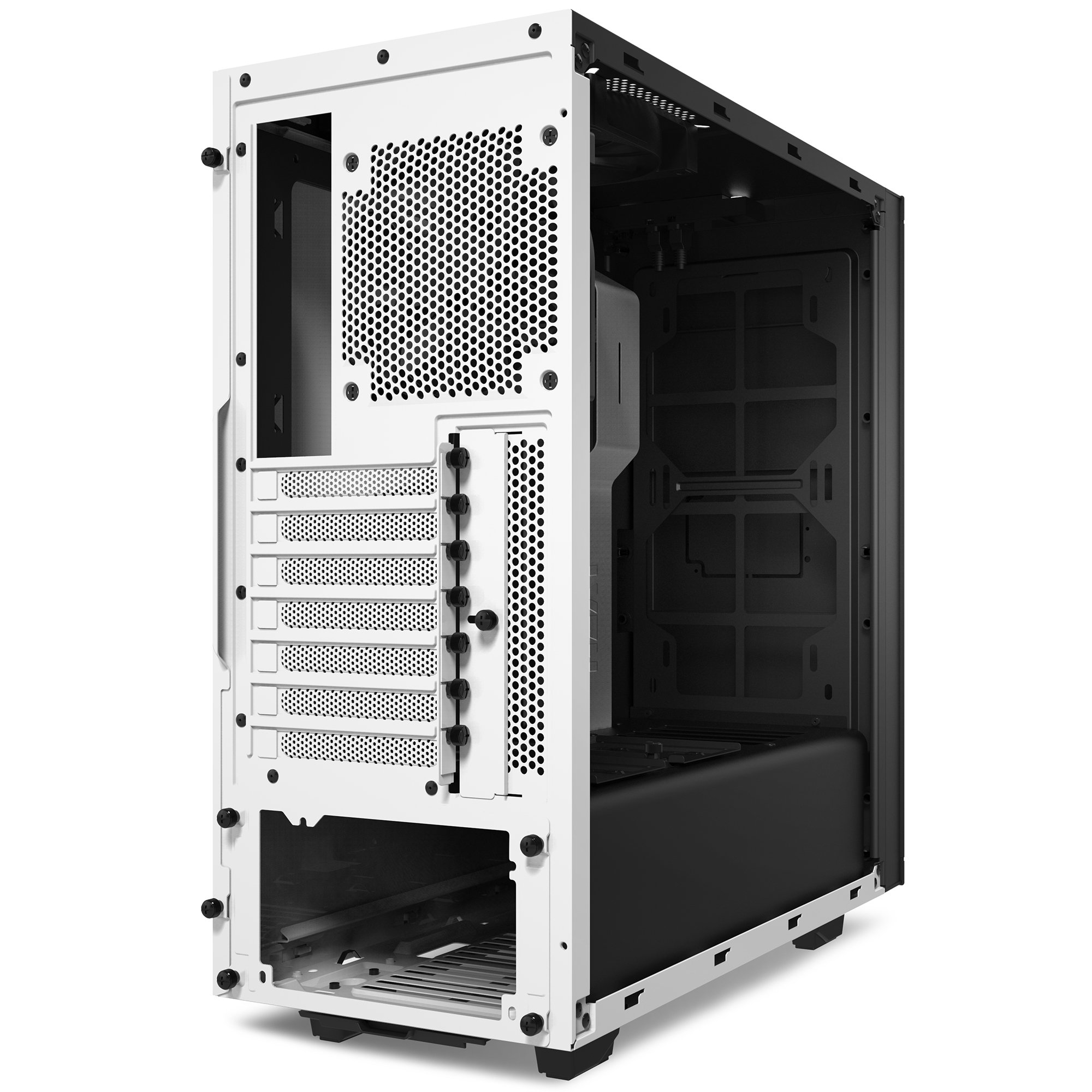 NZXT S340 Mid Tower Computer Case, White (CA-S340W-W1) by Nzxt (Image #2)