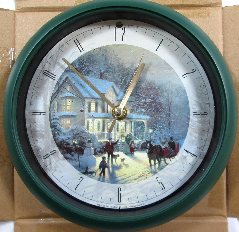 Amazon.com: Thomas Kinkade Christmas Carol Clock: Home & Kitchen