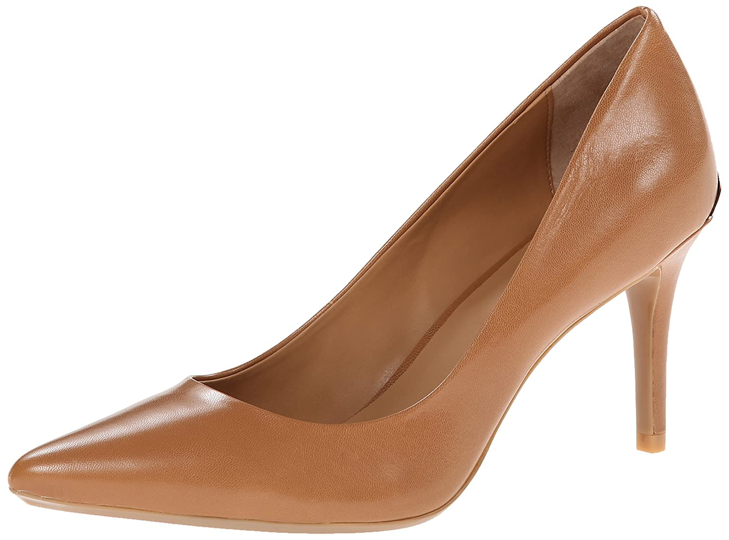 Calvin Klein Women's Gayle Pump B00LH030PY 8.5 B(M) US|Caramel Leather