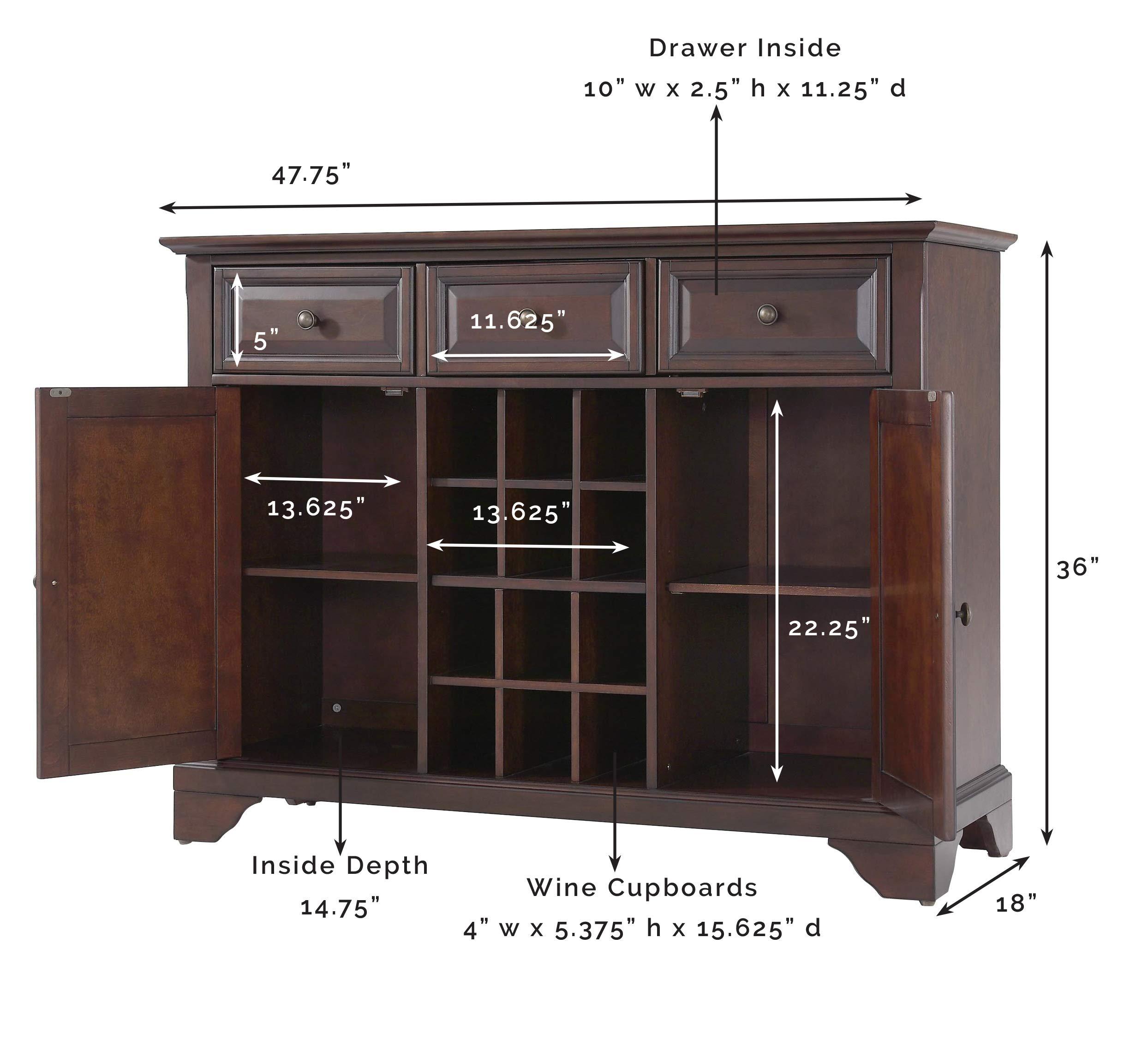 Crosley Furniture LaFayette Wine Buffet / Sideboard - Vintage Mahogany by Crosley Furniture (Image #5)