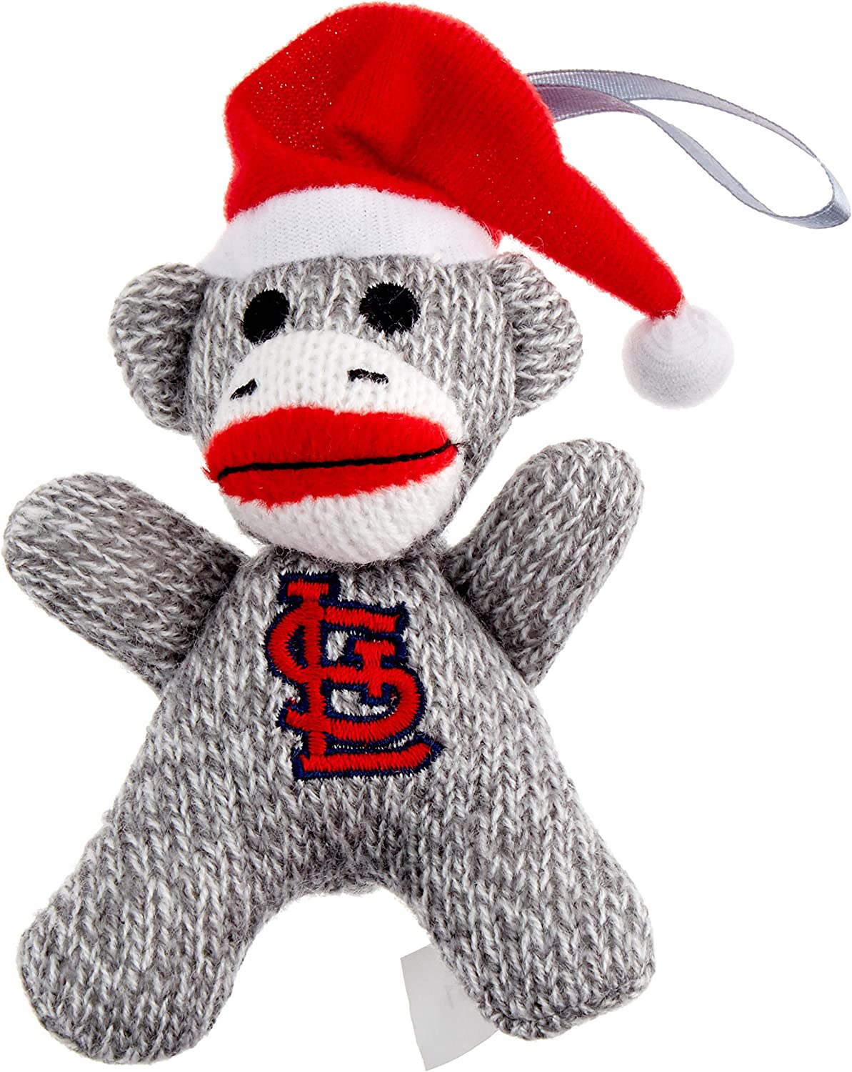 FOCO MLB St. Louis Cardinals (2013 Edition) Sock Monkey Ornament - 2-Pack