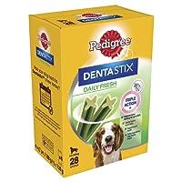 Pedigree Dentastix Fresh Medium Dog Dental Chews 28 Stick - 4 x 180 g (720 g), Pack of 4 (Total 4 x 28 Sticks)